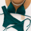 bikini bronceador verde esmeralda
