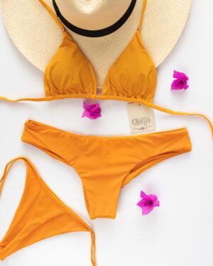 bikini bronceador mostaza